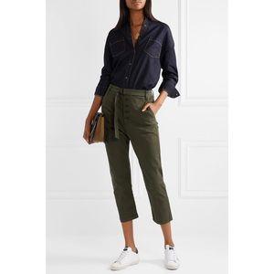 3X1 Vic cropped stretch-cotton straight-leg pant